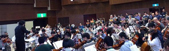 名工大管弦楽団合同記念演奏会に向けての練習風景