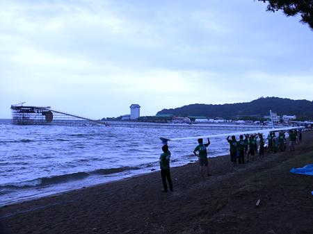 鳥人間コンテスト開催当日の琵琶湖の様子